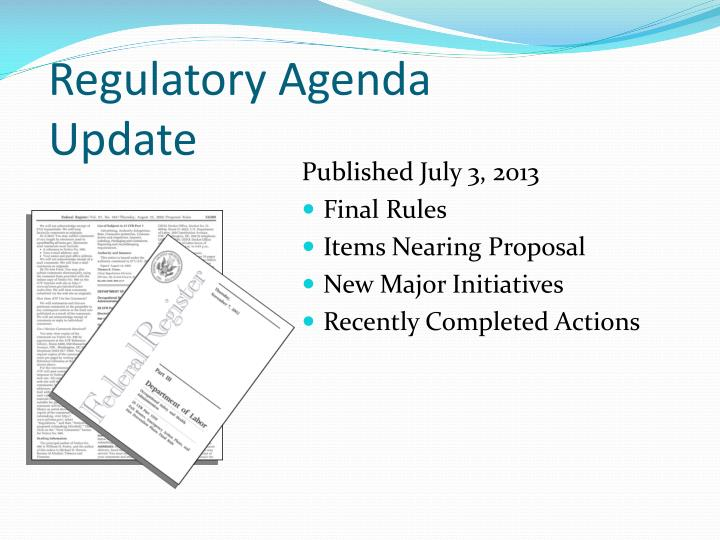 Regulatory Agenda