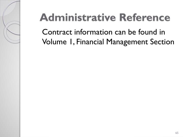 Administrative Reference