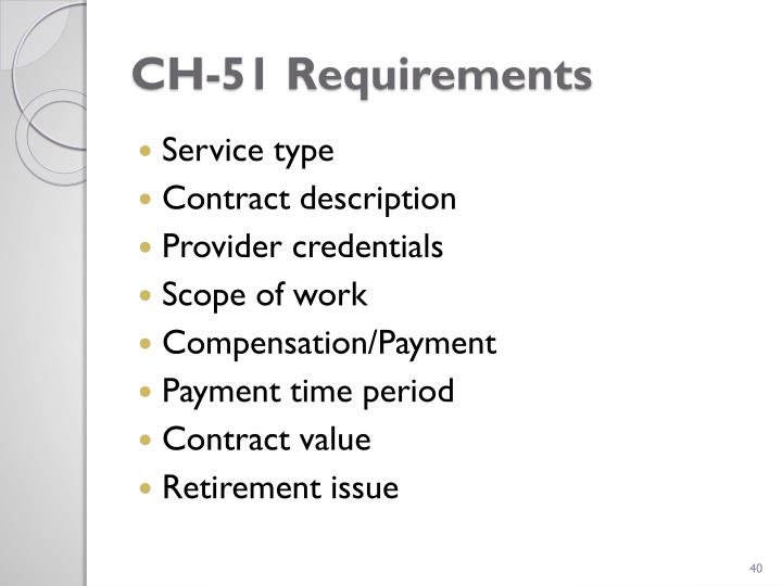 CH-51 Requirements