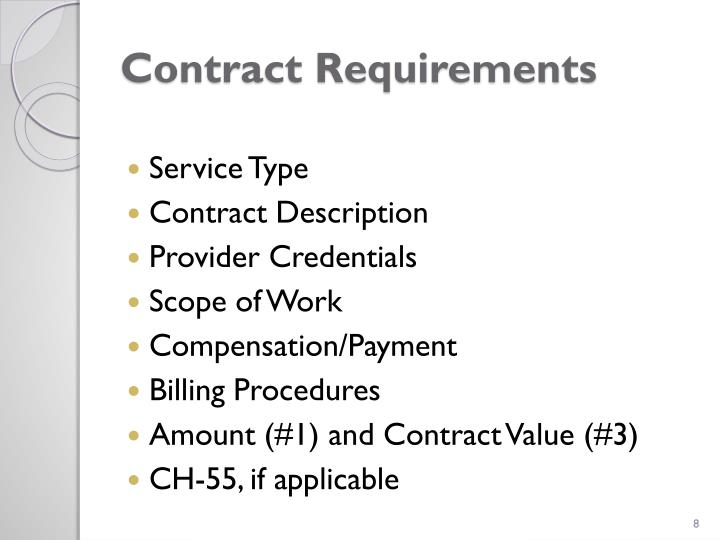 Contract Requirements