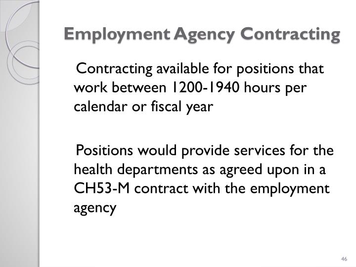 Employment Agency Contracting