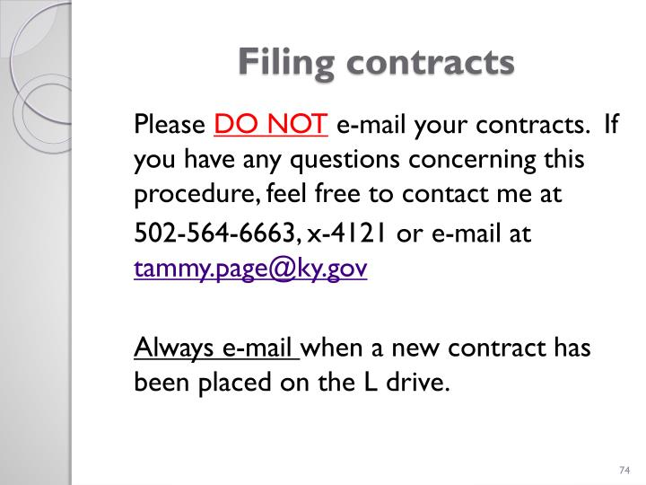 Filing contracts