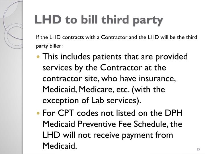 LHD to bill third party