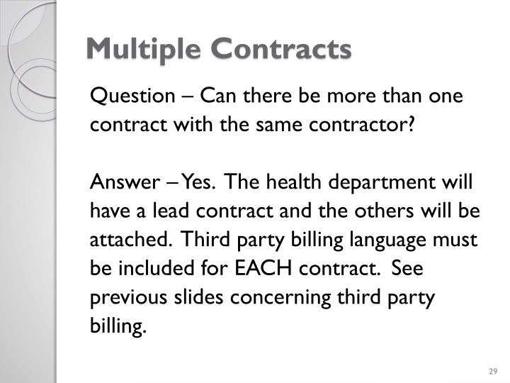 Multiple Contracts