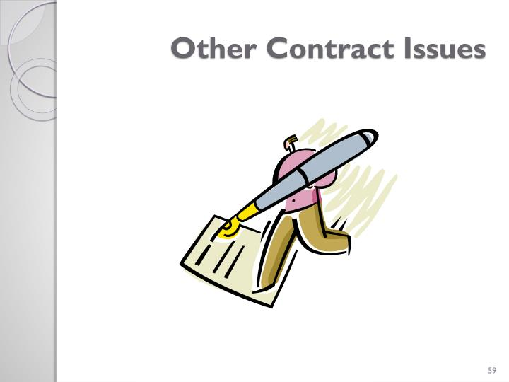 Other Contract Issues
