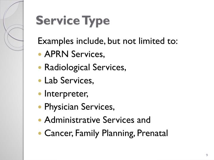 Service Type