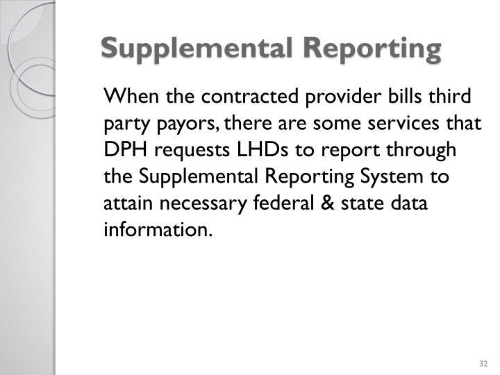 Supplemental Reporting