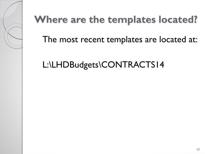 Where are the templates located?