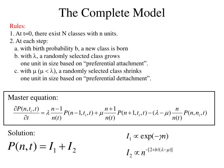 The Complete Model
