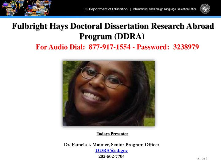 Doctoral Dissertation Research Abroad Program