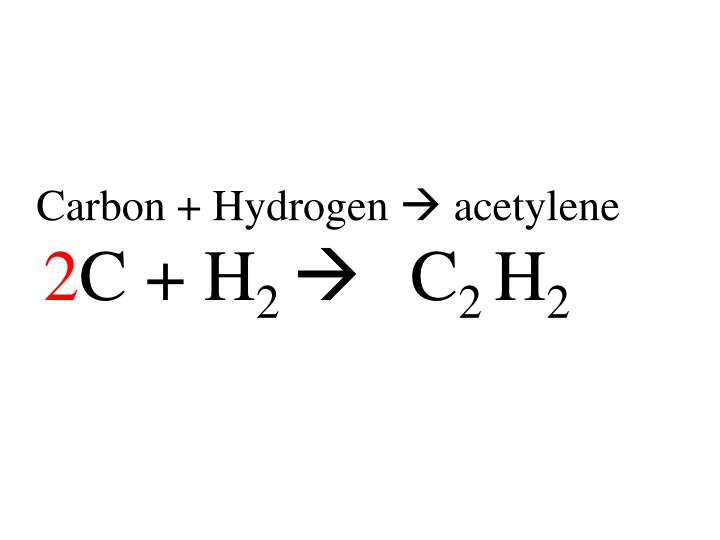 Carbon + Hydrogen