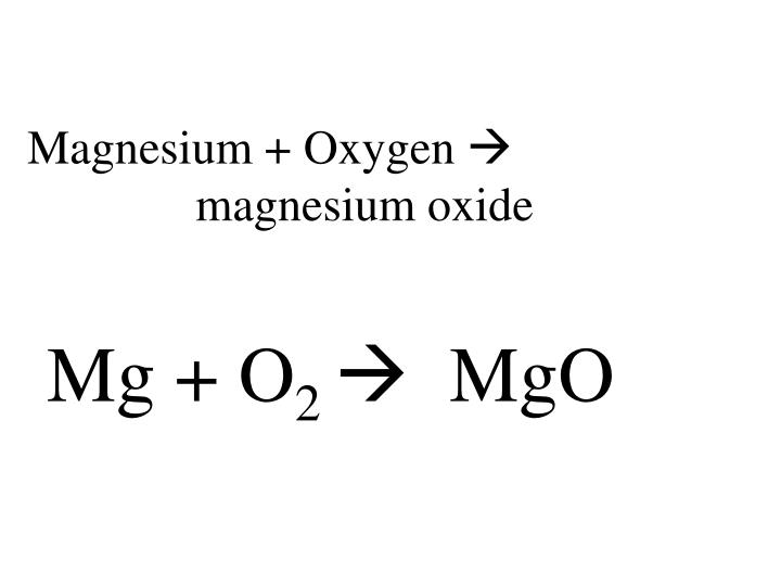 Magnesium + Oxygen