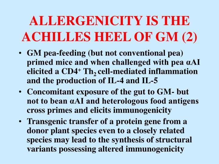 ALLERGENICITY IS THE ACHILLES HEEL OF GM (2)