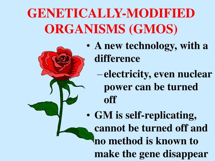 GENETICALLY-MODIFIED ORGANISMS (GMOS)