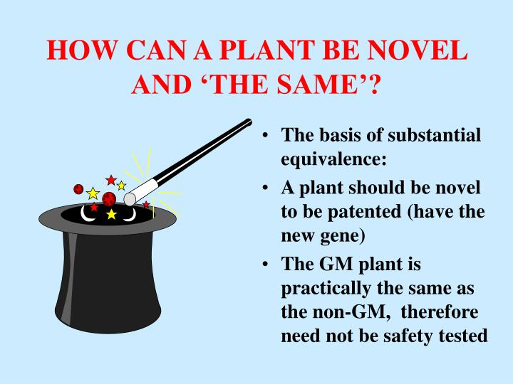 HOW CAN A PLANT BE NOVEL AND 'THE SAME'?