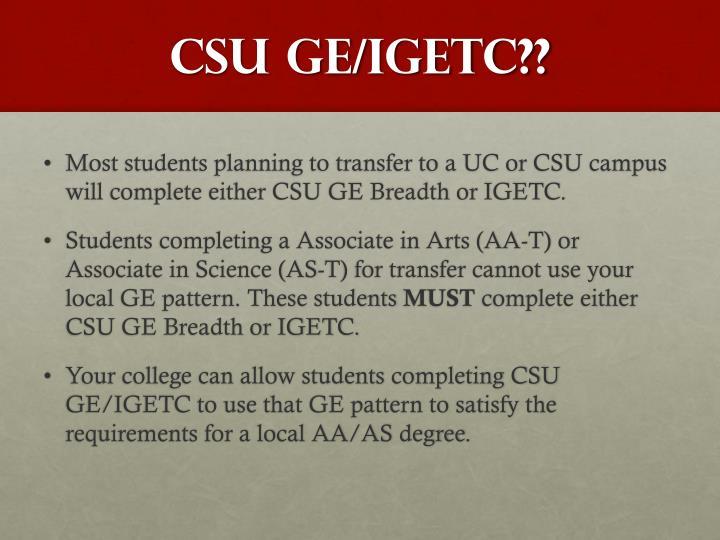 CSU GE/
