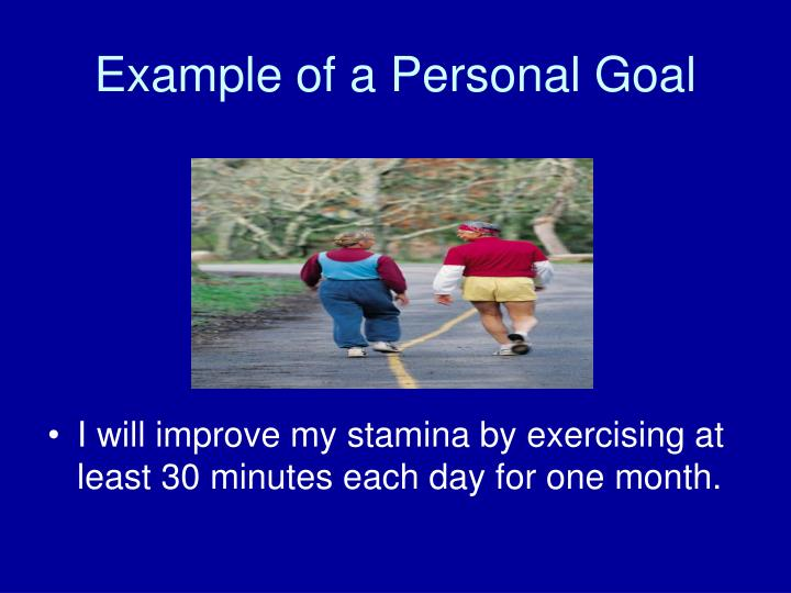 Example of a Personal Goal
