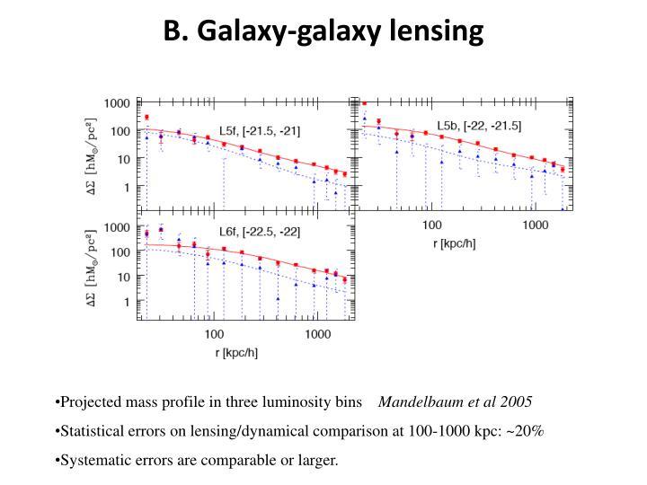 B. Galaxy-galaxy lensing