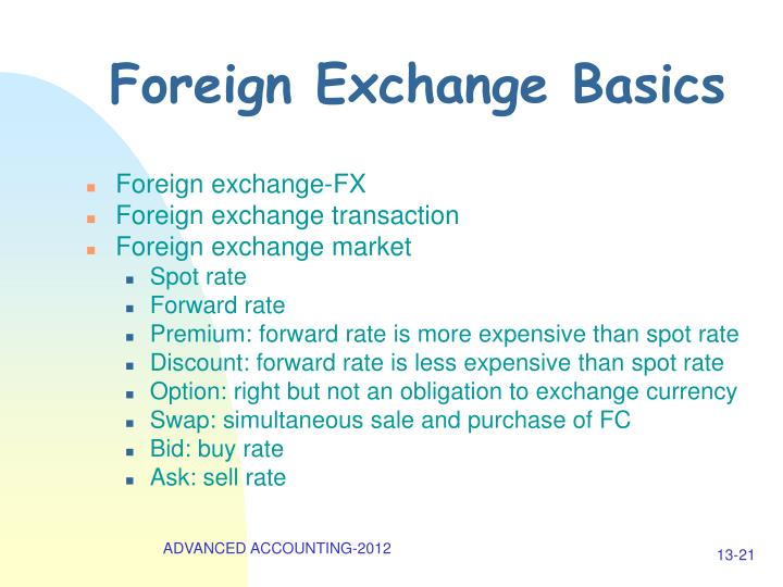 Foreign Exchange Basics