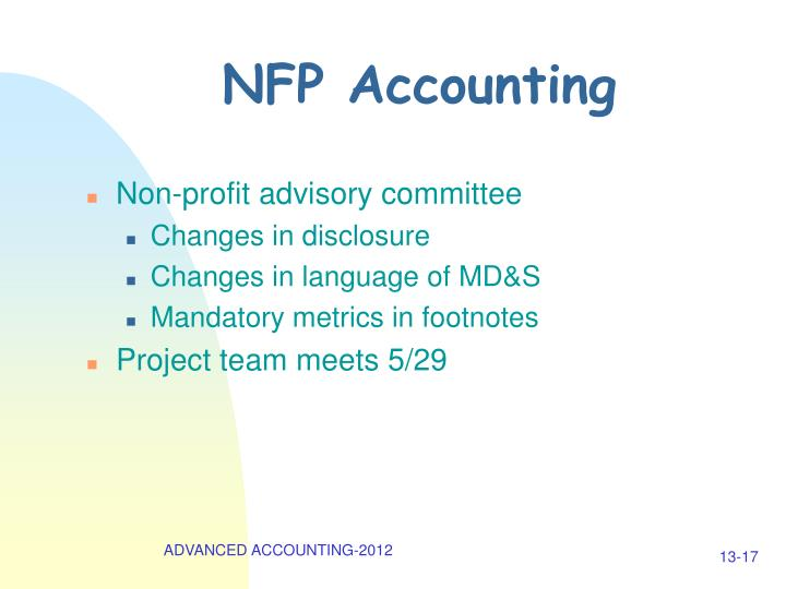 NFP Accounting