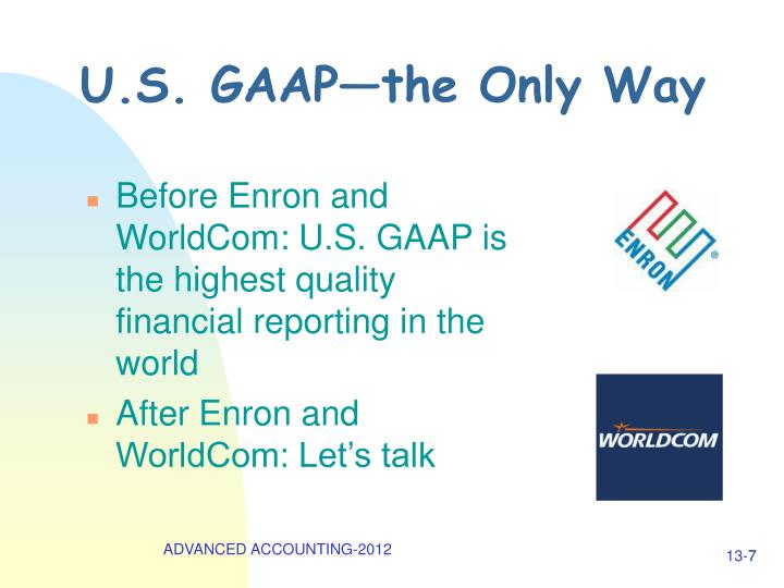 U.S. GAAP—the Only Way