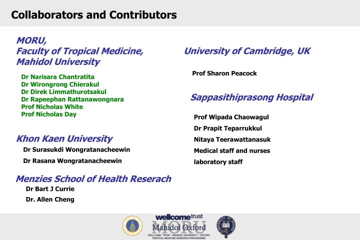 Collaborators and Contributors