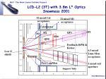 lcd l2 3t with 3 8m l optics snowmass 2001