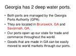 georgia has 2 deep water ports