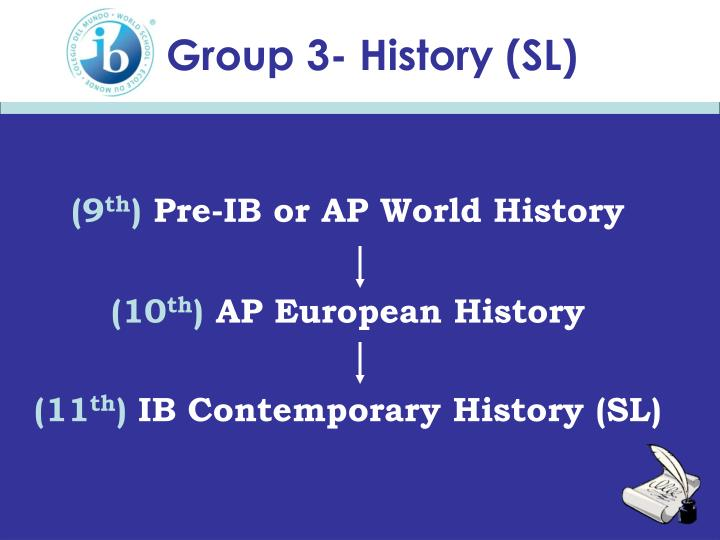 Group 3- History (SL)
