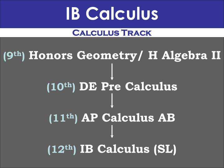 IB Calculus