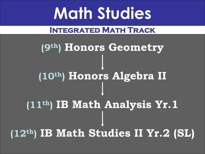 Math Studies