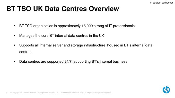 Bt tso uk data centres overview