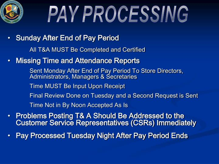 PAY PROCESSING