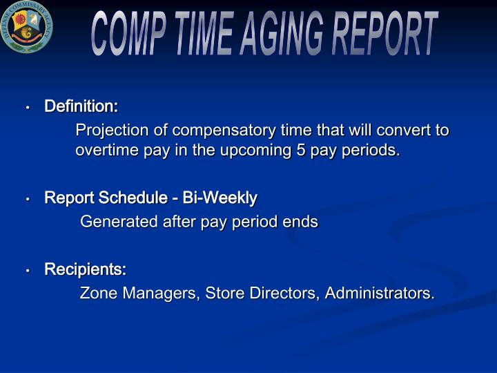 COMP TIME AGING REPORT