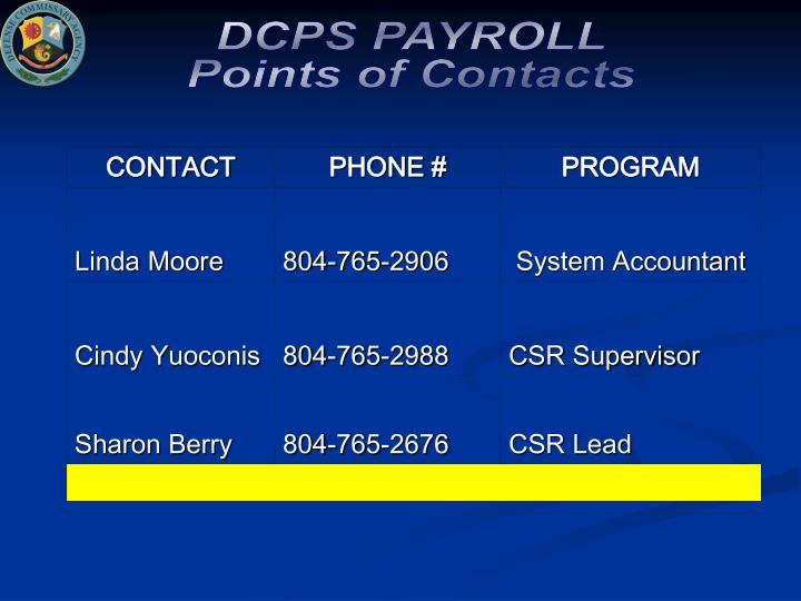 DCPS PAYROLL