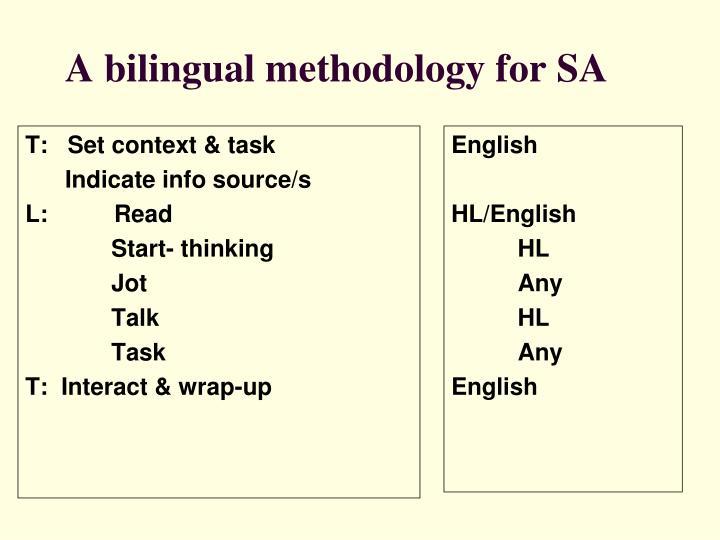 T:   Set context & task