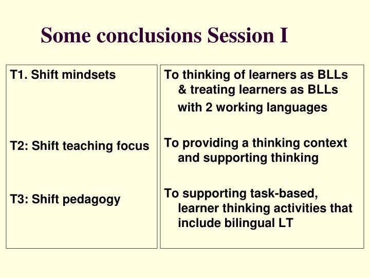 T1. Shift mindsets