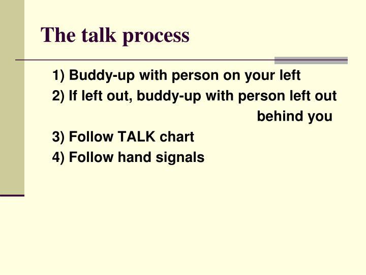 The talk process