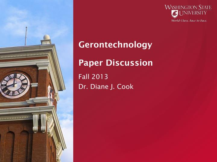 Gerontechnology paper discussion