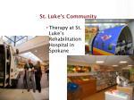 st luke s community