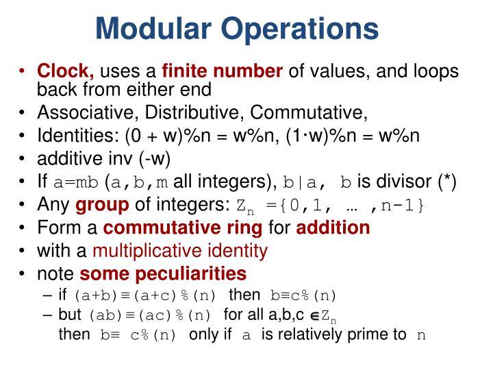 Modular Operations