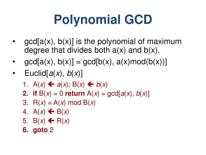 Polynomial GCD
