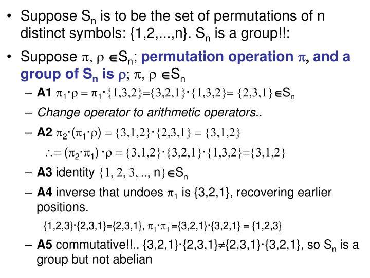 Suppose S