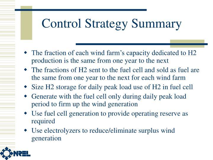 Control Strategy Summary