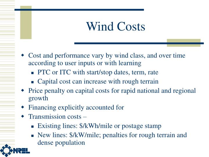 Wind Costs