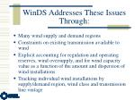 winds addresses these issues through