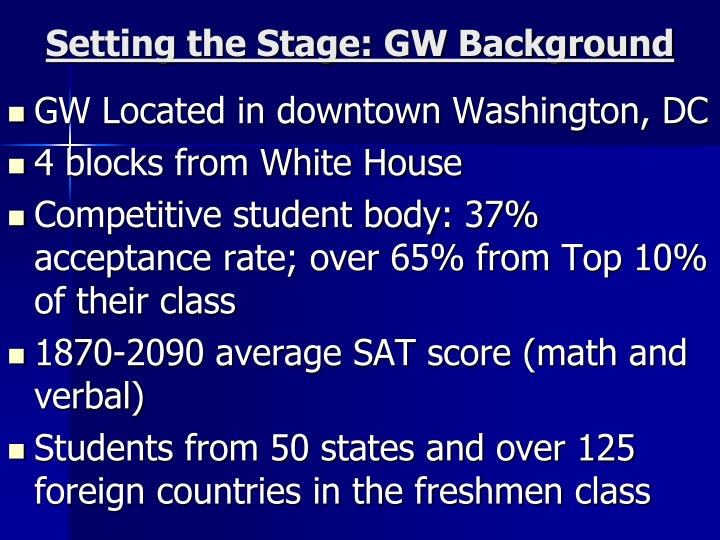 Setting the Stage: GW Background