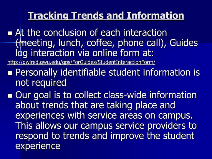 Tracking Trends and Information