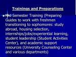 trainings and preparations1