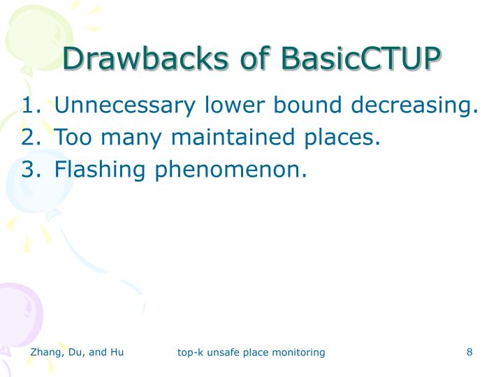 Drawbacks of BasicCTUP